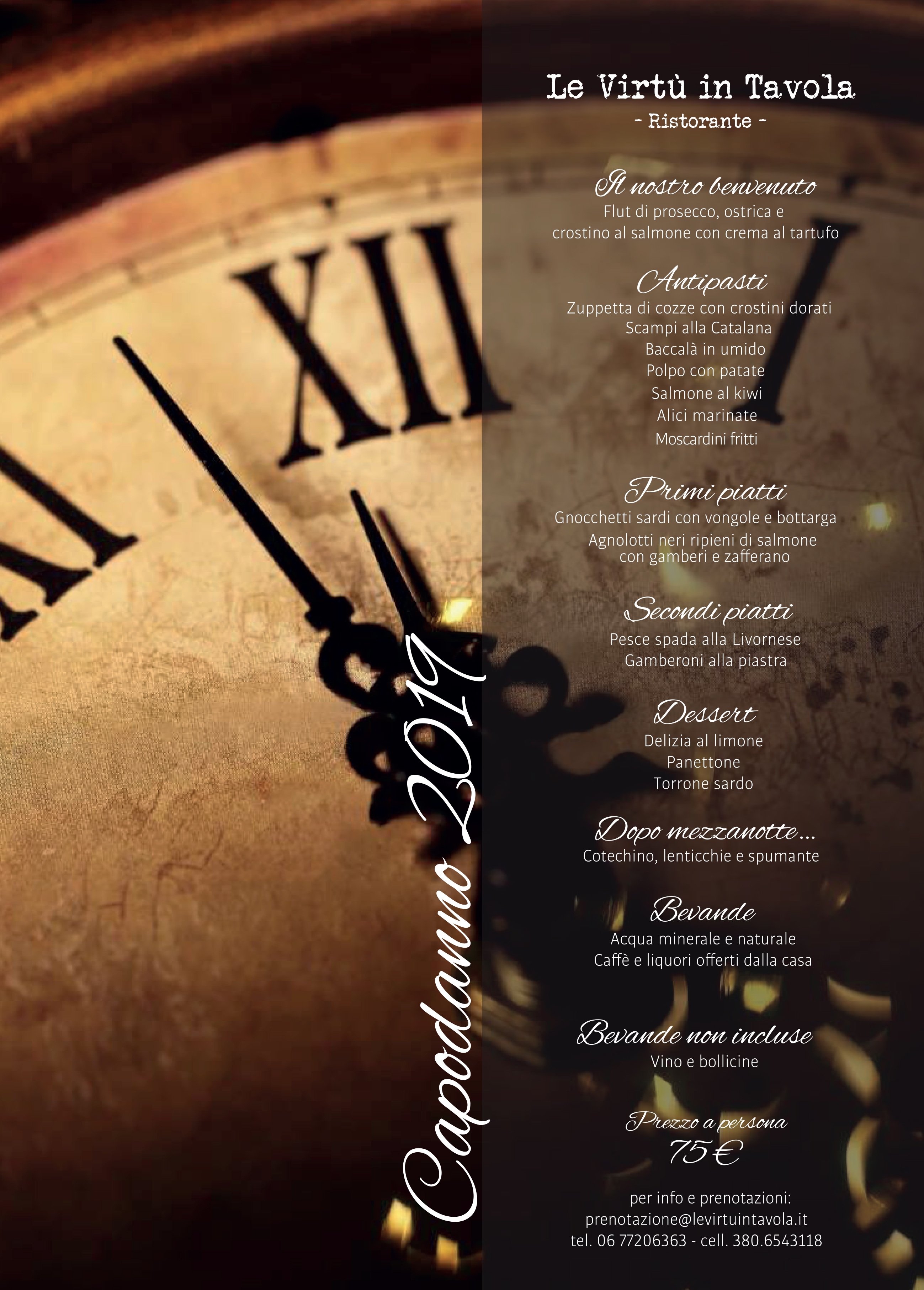 Gran cenone di capodanno 2019 le virtu in tavola - Le virtu in tavola ...